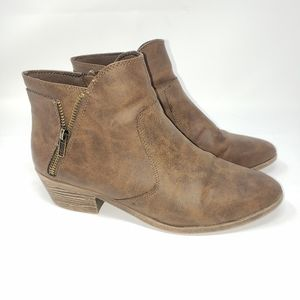Women's ankle boots Size 8.5 brown booties